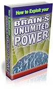 How To Exploit Your Brain's Unlimited Power book graphic