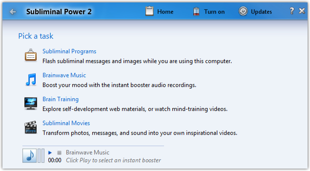 Subliminal Power 2 software review